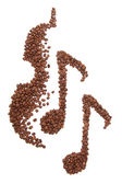 Coffee music — Stock Photo