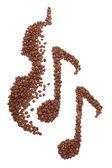 Káva hudba — Stock fotografie