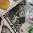 Royalty-Free Stock Photo: Money and drugs