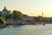 View the banks of the Seine in Paris — Stock Photo