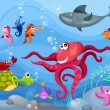 Sea life — Stock Vector #5481081