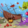 Sea life - Imagens vectoriais em stock