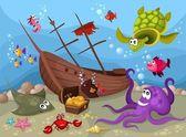 Vida marinha — Vetorial Stock