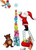 Vánoční přání — Stock vektor
