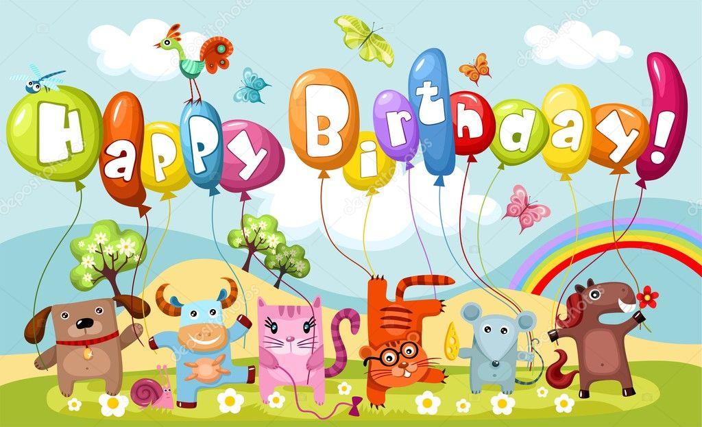 誕生日カード — ストック ... : カード イラスト 無料 : イラスト