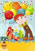 Birthday card — Stockvektor