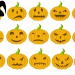 Halloween pumpkins - Grafika wektorowa