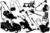 инструменты и оборудование сад — Cтоковый вектор