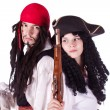 Pirate man and woman — Stock Photo