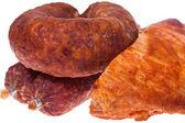 Sausage. delicatessen — Stock Photo