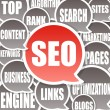 SEO Background - Search engine optimization - Foto Stock