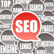 SEO Background - Search engine optimization — Stok fotoğraf