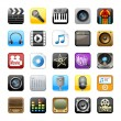 Multimedia icons — Stock Photo