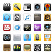Multimedia icons - Stock Photo