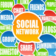 Stock Photo: Social Network Background