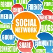 Social Network Background - Stock Photo