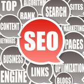 SEO Background - Search engine optimization — Stock Photo