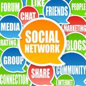 Sieci społeczne tło — Zdjęcie stockowe