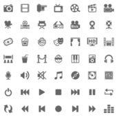 Iconos de los medios de comunicación — Foto de Stock