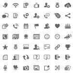 Social media icons — Stock Photo
