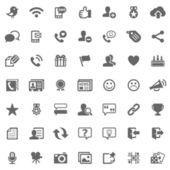символы социальных медиа — Стоковое фото