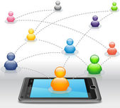 Social Media Network on Smartphone — Stock Photo