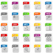 File icons - Stock Photo