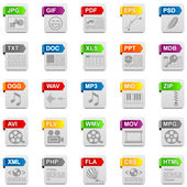 File icons — Stock Photo