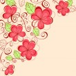 Floral background - Stockvektor