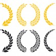 Set of laurel wreaths — Vector de stock #5383520