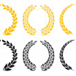 Set of laurel wreaths — Stock vektor #5383520