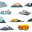 Stock Vector: Mountain peaks