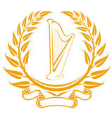 Harp symbol — Stock Vector