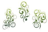 Motivi ed elementi floreali — Vettoriale Stock