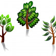 Tree icon — Stockvectorbeeld