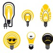 Stock Vector: Light bulbs symbols