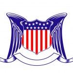 ABD Hanedanlık armaları sembolü — Stok Vektör