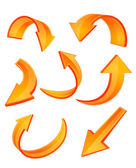 ícones da seta laranja brilhante — Vetorial Stock