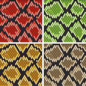 Schlangenleder — Stockvektor