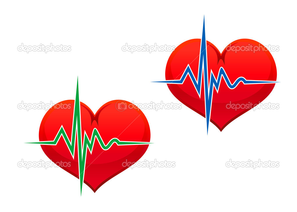 Heart with pulse graph as a medicine concept  Stock Vector #5535367
