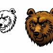 Wild bear tattoo — Stock Vector