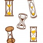 zandloper symbolen — Stockvector