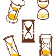 Stock Vector: Hourglass symbols