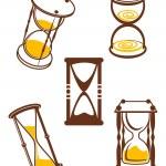 Hourglass symbols — Stock Vector