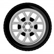 Wheel and tire — Imagen vectorial