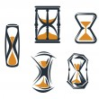 Vector de stock : Sandglass symbols