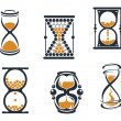 Stock Vector: sandglass symbols