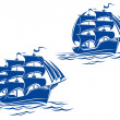 Sail ship — Vector de stock #5630914