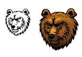 Divoký medvěd tetování — Stock vektor
