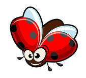 Funny cartoon ladybug — Stock Vector